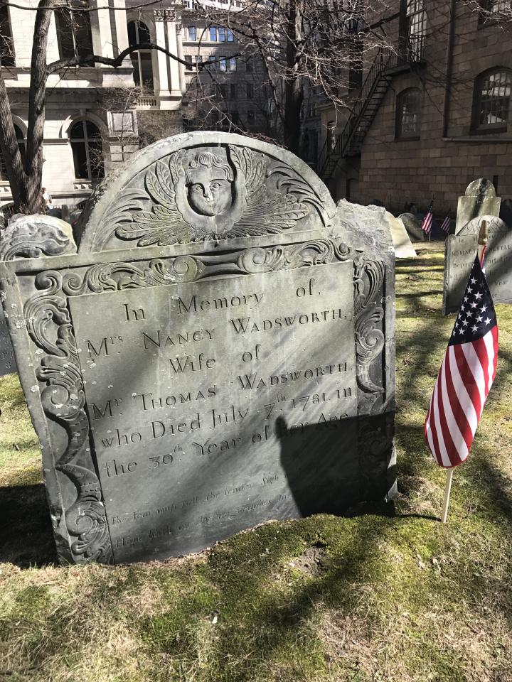 King's Chapel Burying Ground Headstone